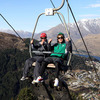 Eoin Reddan and Jerry Flannery are pictured on the two-seater chairlift which takes riders and their luge carts to the top of the scenic 800-metre course