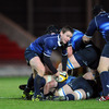 Back on provincial duty after the GUINNESS Series, scrum half Eoin Reddan passes the ball away from a Leinster ruck