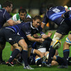 Scrum half Eoin Reddan clears the ball from a ruck during Leinster's first ever Magners League clash with Benetton Treviso