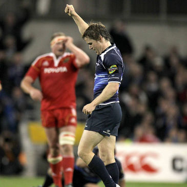 Eoin Reddan celebrates after Leinster's win over Munster last year