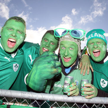 The Ireland fans will be out in force again in New Zealand