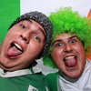 Shane Byrne and Dave Tunney from Dublin were ready to cheer on Ireland to an opening win at the Rugby World Cup