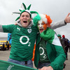 These Ireland fans brought plenty of colour and noise to Wellington Regional Stadium where 35,787 spectators attended the game