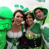 These Ireland supporters were keen to show their green in the lead up to kick-off at Wellington Regional Stadium