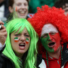 These fans got rid of their pre-match butterflies by posing for a photograph together. Ireland and Wales will also meet next February in the opening round of the 2012 Six Nations