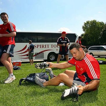 Pederico Pucciariello pictured at a Munster training session last year