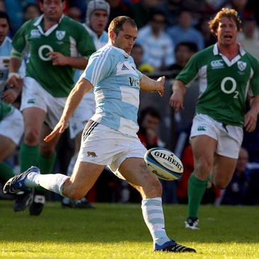 Felipe Contepomi in action for Argentina