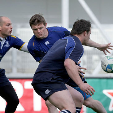 Brian O'Driscoll in action during Leinster's Captain's Run session