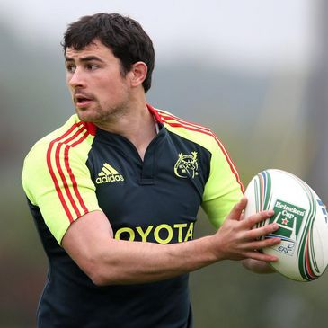 Felix Jones training with the Munster squad