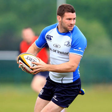 Fergus McFadden training with the Leinster squad this week