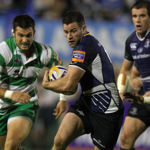 Leinster's Fergus McFadden on the attack