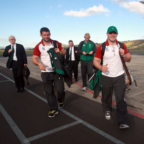 Ireland Squad's Arrival In Dunedin, New Zealand, Monday, September 26, 2011