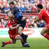 Fergus McFadden was a lively presence in the Leinster midfield, but Munster's Danny Barnes did well to keep tabs on him