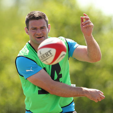 Fergus McFadden training with the Ireland squad