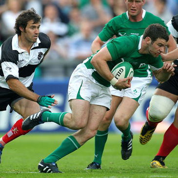 Fergus McFadden in action against the Barbarians