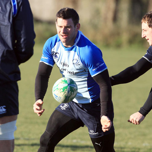 Fergus McFadden training with the Leinster squad