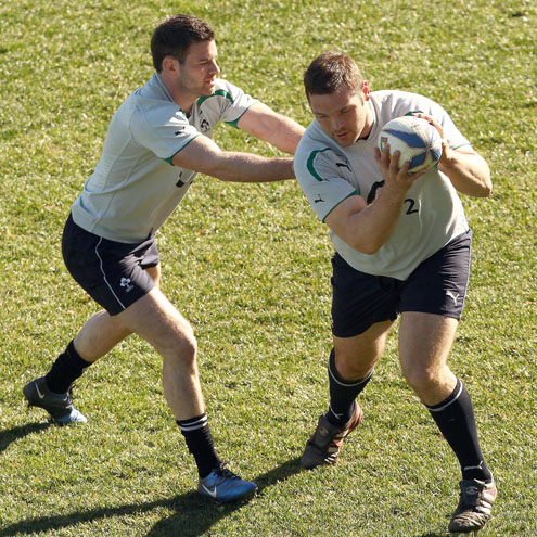Ireland Captain's Run Session At Stadio Flaminio, Friday, February 4, 2011