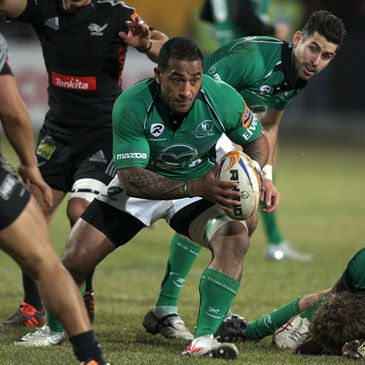 Fetu'u Vainikolo scored Connacht's only try against Exeter Chiefs
