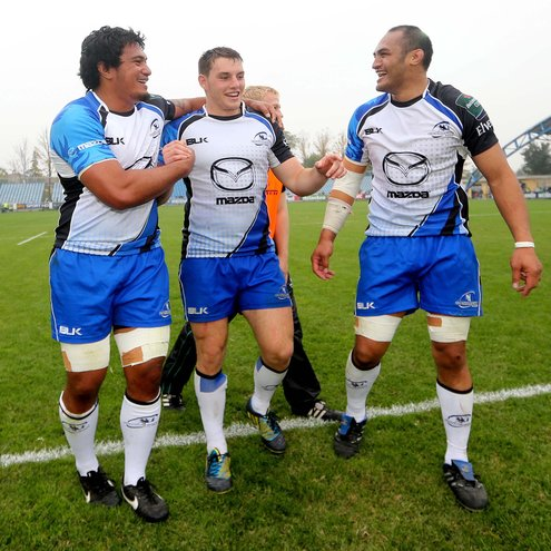 Connacht's Mata Fifita, Jake Heenan and George Naoupu