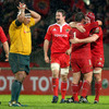 Delight for the Munster players at the final whistle and disappointment for Australia prop Salesi Ma'afu