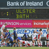 There is a mix of relief and delight for the Ulster players as they celebrate just after the final whistle at Ravenhill