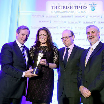 Taoiseach Enda Kenny presented the award to Fiona Coghlan