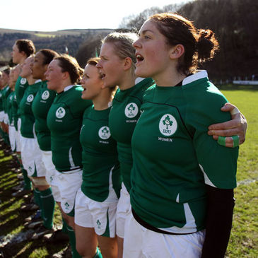 Fiona Coghlan with the Ireland team