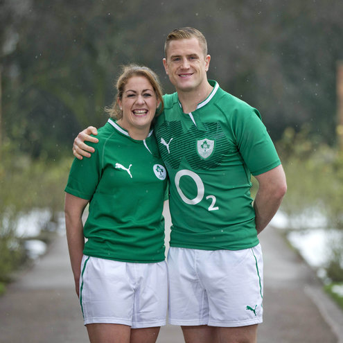 Ireland captains Fiona Coghlan and Jamie Heaslip