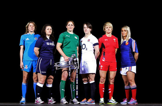 Fiona Coghlan at the launch of the Women's RBS 6 Nations