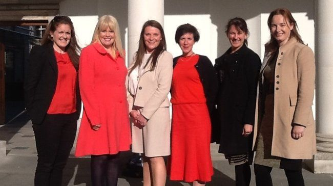 Fiona Coghlan is pictured with her fellow attendees