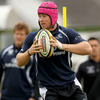 Flying winger Fionn Carr certainly caught the eye with this 'colourful' choice of scrum cap