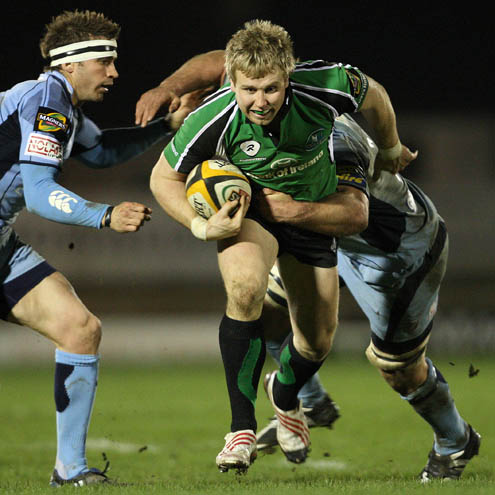 Fionn Carr on the attack for Connacht