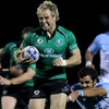 The effort is etched on Fionn Carr's face as he leads an attack for Eric Elwood's Connacht side