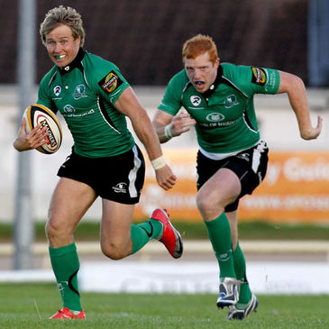 Connacht's Fionn Carr and Darragh Fanning