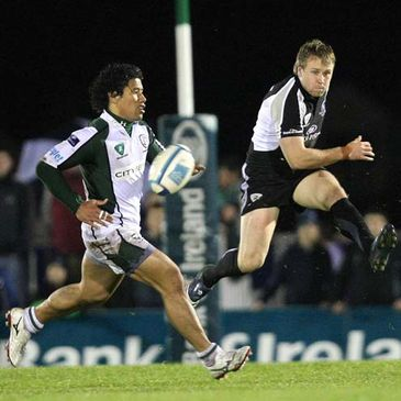 Fionn Carr kicks clear for Connacht