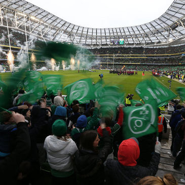 Ireland fans at the Aviva Stadium