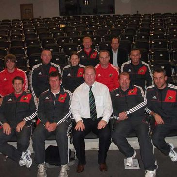 Des Ryan with members of the Munster Branch Domestic Game department