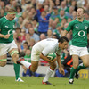 However, there was a mix-up between Jamie Heaslip and Tomas O'Leary and the scrum half's long, looping pass was intercepted by Francois Trinh-Duc