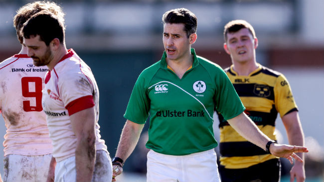 IRFU Confirm Professional Referee Appointments
