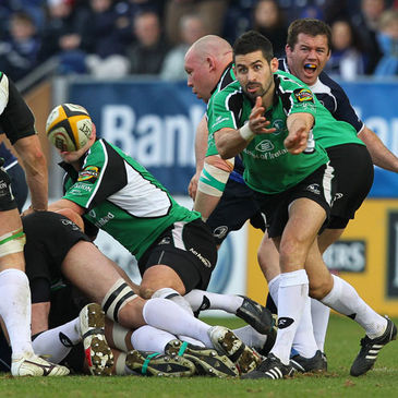 Frank Murphy in action for Connacht against Leinster