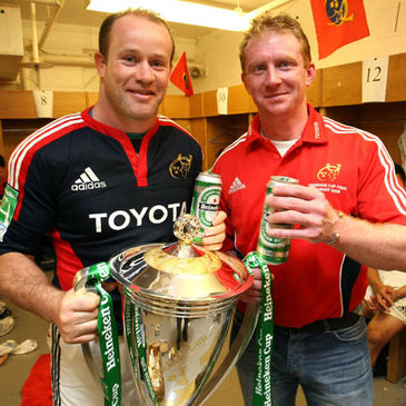 Munster's Frankie Sheahan and Anthony Horgan