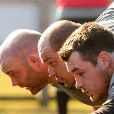 John Hayes, Rory Best and Cian Healy