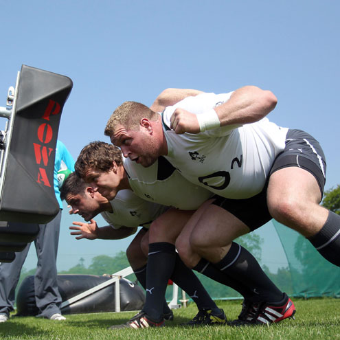 Photos of the Ireland players training in the May sunshine at Carton House