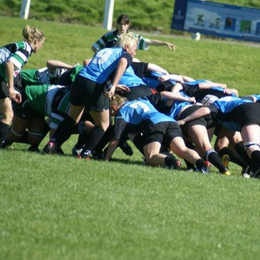 Scrum action from the Galwegians v Clonmel clash