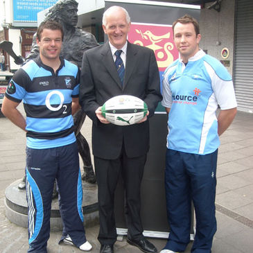Mossie Lawlor and Conan Doyle with AIB Limerick's Michael Murphy
