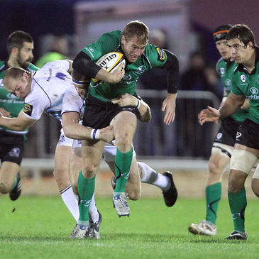 Connacht's Gavin Duffy in action against Leinster