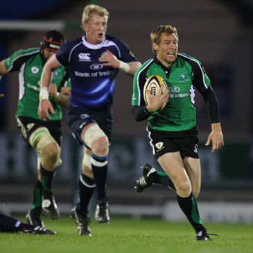 Connacht's Gavin Duffy makes a break against Leinster