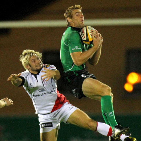 Connacht's Gavin Duffy gathers a high ball