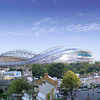 The completed Aviva Stadium will dominate the skyline around the Lansdowne Road area