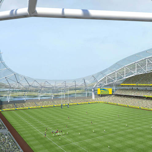 A general view of how Aviva Stadium will look